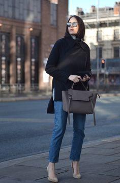 Celine Taupe Belt Bag