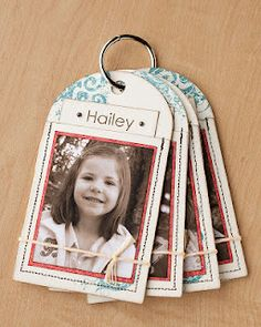 Decorate pockets with pictures of your loved ones and tuck special information about each person inside. Connect them with a jumper ring to create a gift or game. #CTMH