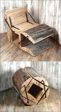 Folding Furniture, Log Furniture, Furniture Design, Chair Design, Furniture Dolly, Folding Chairs, Outdoor Furniture, Furniture Outlet, Discount Furniture