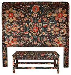 eclectic headboards by Seret & Sons