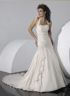 pictures of wedding dresses halter top - Google Search