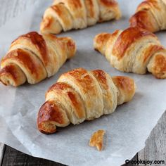 Classic croissants explained with step by step pictures and tips.