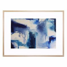 This striking piece uses deep indigo blues to create a contemporary, calming atmosphere in any space. Supplied by artist Belinda Nadwie, this print is under exclusive license for strictly limited production.