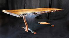 """Walnut and steel dining table 38"""" by 84"""""""