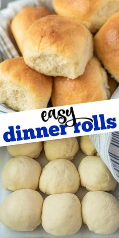 Nothing beats the taste of homemade Dinner Rolls! Try this soft, buttery, and very easy yeast roll recipe to complete your next family dinner. Dinner Rolls Easy, Fluffy Dinner Rolls, Homemade Dinner Rolls, Dinner Rolls Recipe, Roll Recipe, Dinner Recipes, Bread Maker Recipes, Easy Bread Recipes, Side Dish Recipes