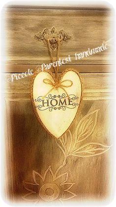 Natale cuore in legno