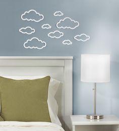 Umbra Nimbus Muurdecoratie Wolken Set van 12 - Wit - 101 Woonideeën online webwinkel