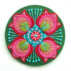 Felt and embroidery Marrakech brooch