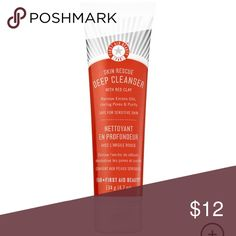 NEW First Aid Beauty Skin Rescue Cleanser-Red Clay NEW!!!! First Aid Beauty Skin Rescue Deep Cleanser with Red Clay. Suggested Usage: -Dampen face and dispense a dime-sized amount of cleanser onto fingertips. -Gently massage into all areas of the face. -Rinse thoroughly with water, or remove with a soft, damp washcloth. -Use twice daily, morning and night. Sephora Makeup