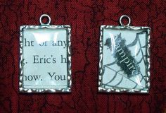 Pendants made from book snips
