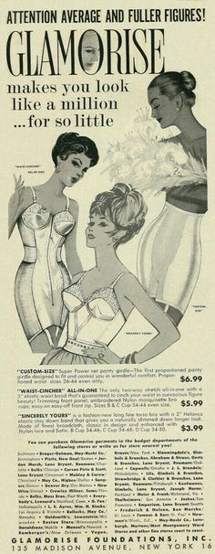 "Glamorize 1962. ""Foundations"""