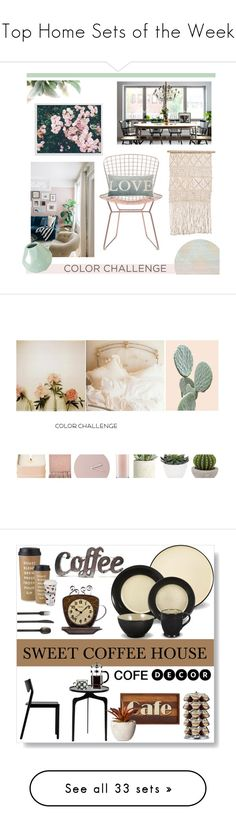 """Top Home Sets of the Week"" by polyvore ❤ liked on Polyvore featuring interior, interiors, interior design, home, home decor, interior decorating, Nordal, Zuo, Safavieh and Florence Broadhurst"