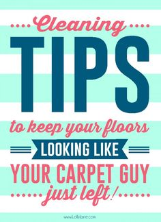Spring Cleaning Tips for the Floors!