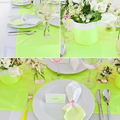 Une déco de table color block