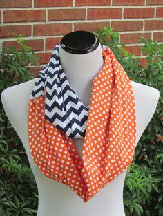 Halloween scarf polka dots #chevron #scarf #Halloween #party #accessories #orange #infinity #scarf by #HappyScarvesByLesya