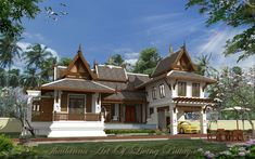 Vr molecule 41 colonial for Traditionelles thai haus