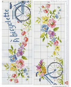 ~ Pin on Toallas ~ This Pin was discovered by Maria Luz Cangalaya Vilca. Discover (and save!) your own Pins. Cross Stitch Bookmarks, Cross Stitch Books, Cross Stitch Art, Cross Stitch Flowers, Cross Stitch Embroidery, Cross Stitch Patterns, Cross Stitch Kitchen, Different Flowers, Bargello