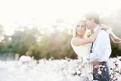 Cotton field engagement. It's a pretty picture, and there are TONS of cotton fields in Alabama. But I know from experience that this would end in torn fabric and cut legs.