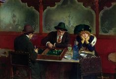 Jean Béraud Giocatori di tavola reale