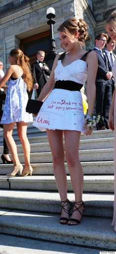 Teen Uses Homemade Prom Dress As Message Board For Girls Rights