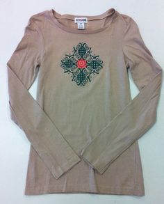 Woman's Tan Mandala Long Sleeve Yoga Shirt on Etsy, $20.00