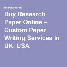 Buy Research Paper Online – Custom Paper Writing Services in UK, USA