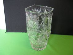 Vase Elegant Art Glass Sudety Crystal by hazeleyesartglassetc $49. 12/2015