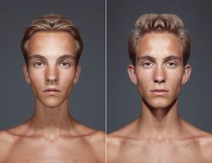 Would You Recognize Yourself With A Completely Symmetrical Face?  JULIAN WOLKENSTEIN EXPLORES A SCIENTIFIC CONCEPT OF BEAUTY WITH A UNIQUE PORTRAIT SERIES.