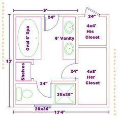 Floor Plan For A 8x14 Bath And 11x13 Bedroom House Pinterest Bedrooms Bathroom Floor