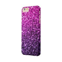 Beautiful Purple Pink Ombre glitter sparkles Barely There iPhone 6... ($50) ❤ liked on Polyvore featuring accessories, tech accessories and sparkle