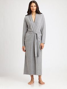 Saks Fifth Avenue Collection Cashmere Long Robe From SaksFifthAvenue.com