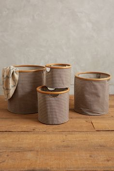 Collapsible Round Bin - anthropologie.com