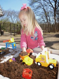 Paula's Preschool and Kindergarten: diggers and dumpsters in the dirt