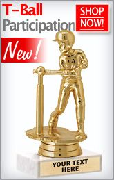 Need Awards for Your T-Ball Team? These T-Ball Participation Trophies are Great to Hand Out to the Whole Team! http://www.crownawards.com/StoreFront/TBL.T-Ball_Trophies_And_Awards.cat