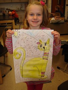 Kindergarten artists learned about how the Egyptians liked cats! They even would put jewelry on them and mummify them. They created their ow...
