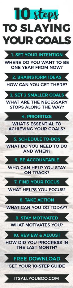 Are you tired of setting goals you never actually achieve Achieving your goals and dreams is only 20 setting but 80 slaying Get your FREE Printable Guide My Goals, Life Goals, How To Set Goals, Personal Goals, Self Development, Personal Development, Management Development, One Kings Lane, 5am Club