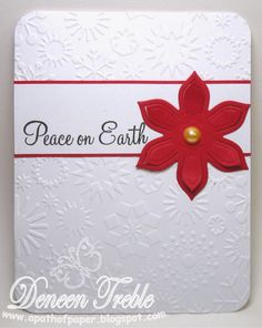 A Path of Paper: Super Quick Christmas Cards Chrismas Cards, Christmas Cards To Make, Xmas Cards, All Things Christmas, Simple Christmas, Holiday Cards, Christmas Crafts, Christmas Ideas, Anemone Flower