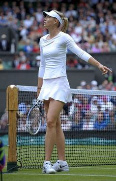 Maria Sharapova at the Wimbledon Lawn Tennis Courts on June 25, 2013.