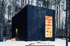 Tucked away in the woods of Upstate New York, the Library Cabin gives book lovers a whole house to enjoy their latest find. Serving as both a guesthouse and library, the black-clad cottage is truly a labor of love. The...