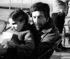 Leonard Cohen with his daughter, Lorca
