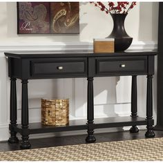 Have to have it. Signature Design By Ashley Landiburg Rectangular Black Sofa Table - $273.52 @hayneedle
