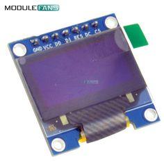 """0.96"""" Blue 0.96 Inch OLED Module 128X64 OLED LCD LED Display Module For Arduino IIC I2C Communicate DC 3V-5V SPI Serial  Module"""