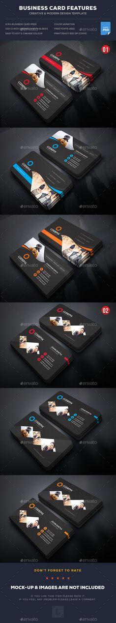 Photography Business Card Design Template Bundle - Business Cards Template PSD. Download here: https://graphicriver.net/item/photography-business-card-bundle/17014614?s_rank=74&ref=yinkira