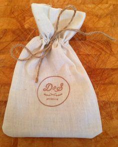 Finished wedding favour bag