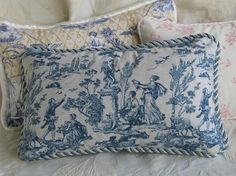 Toile Pillows More