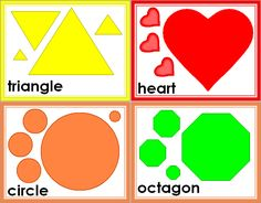 free shapes | FREE Printable Shape Flashcards - great for kids