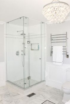 Bathroom White Subway Tile With Shower Enclosures