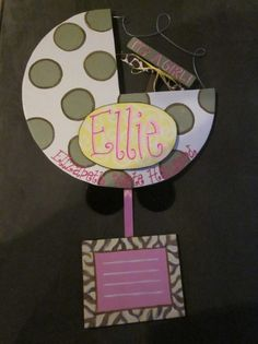 Ellie (Elizabeth) It's A Girl! Hospital door hanger.