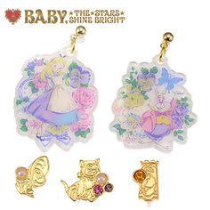Alice in earrings 5P Curious garden wonder