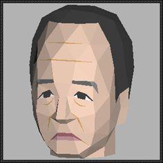 Akira Amari Head Papercraft Free Template Download - http://www.papercraftsquare.com/akira-amari-head-papercraft-free-template-download.html